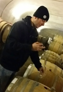 Barrel tasting with Matt Wengle, Winemaker for Lemelson Vineyards