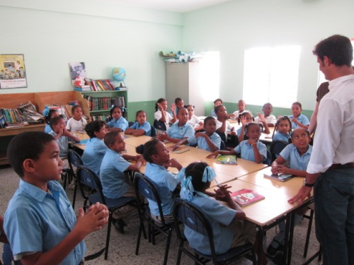 Local kids attending the the Brugal supported school in Puerto Plata