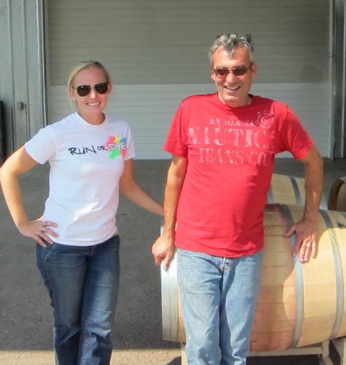 Kate & Serge at Spring Valley Vineyards
